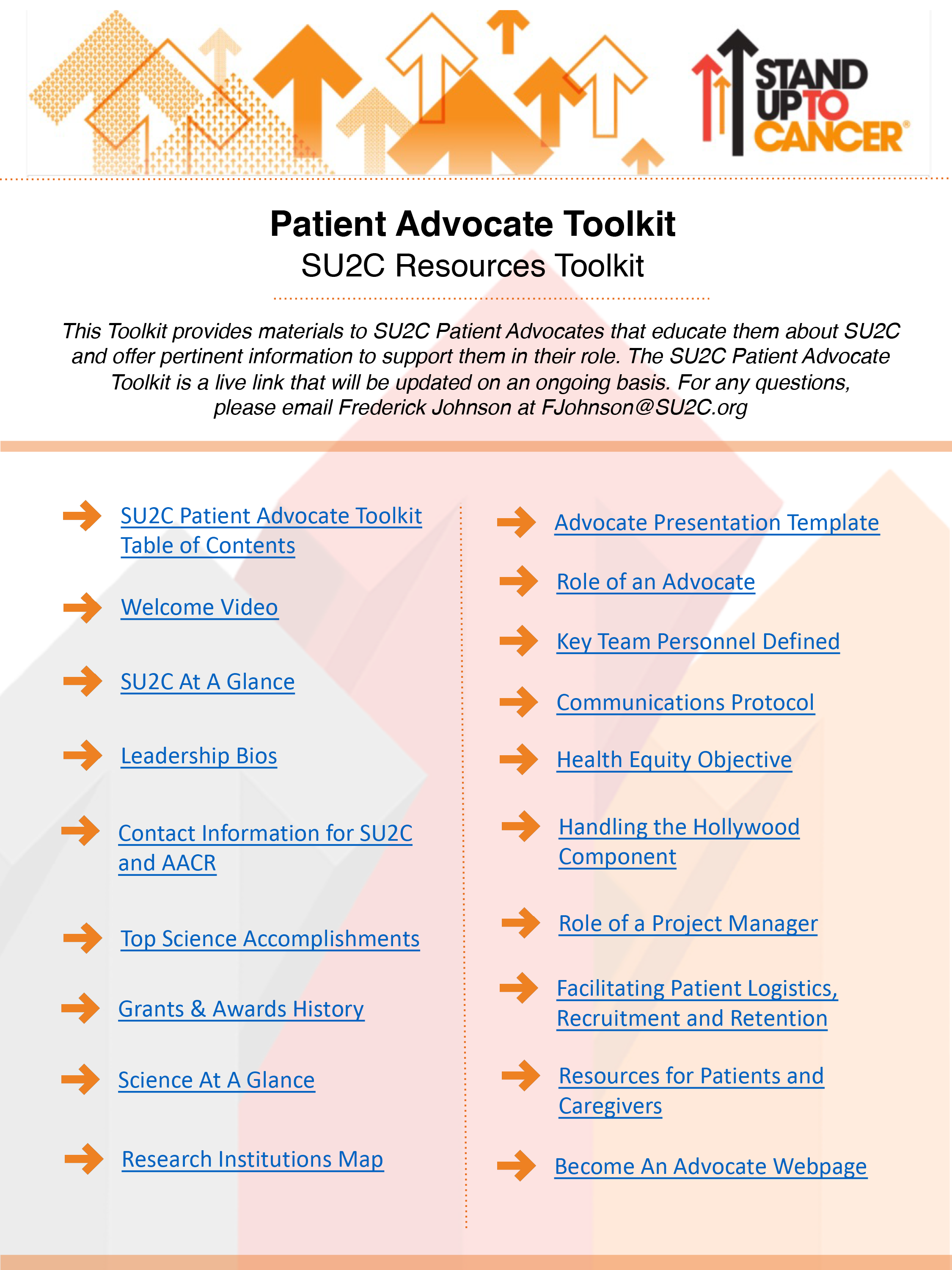 Download Our Patient Advocate Toolkit