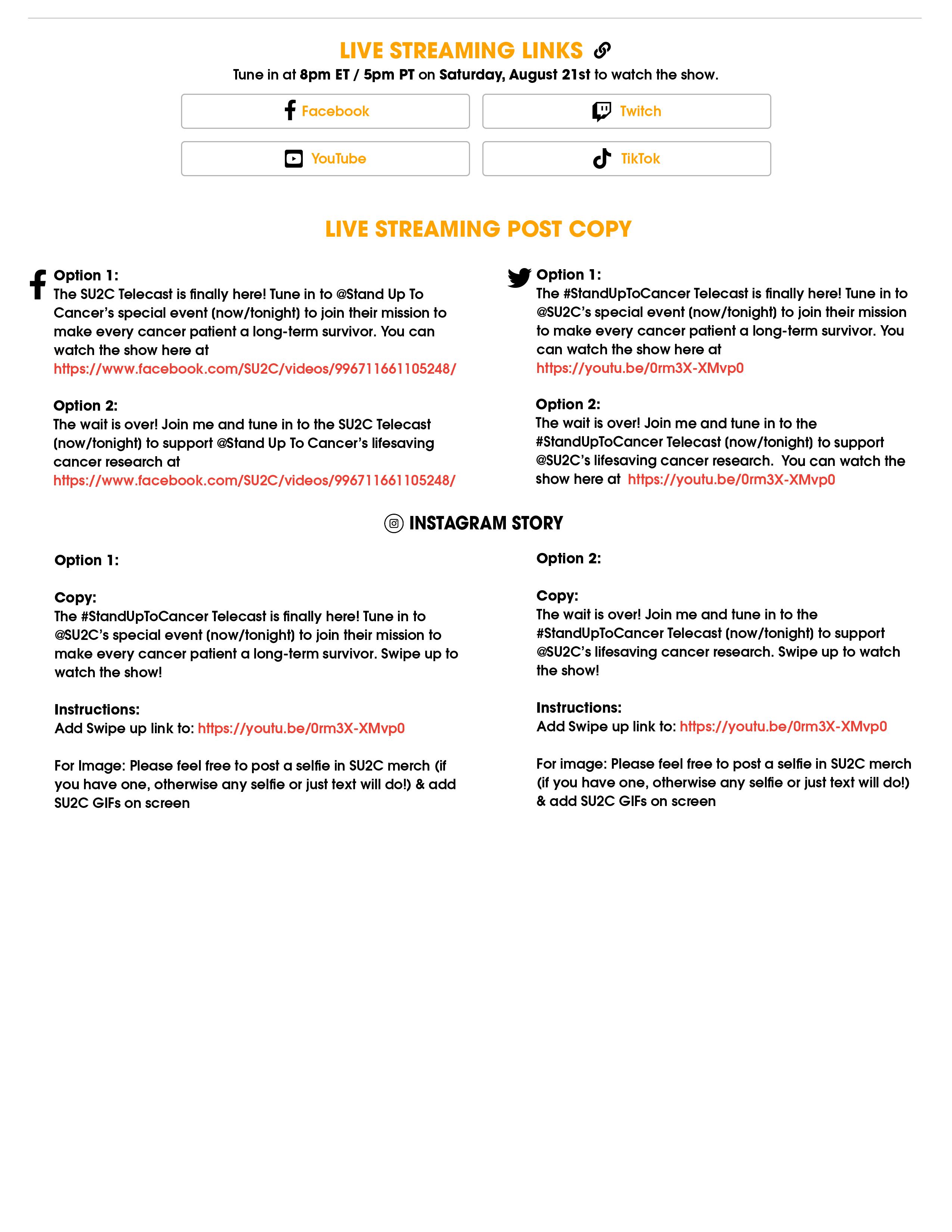 Download the SU2C Telecast Toolkit